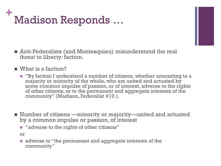 Madison Responds …