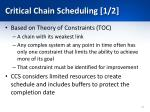 critical chain scheduling 1 2