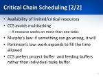 critical chain scheduling 2 2