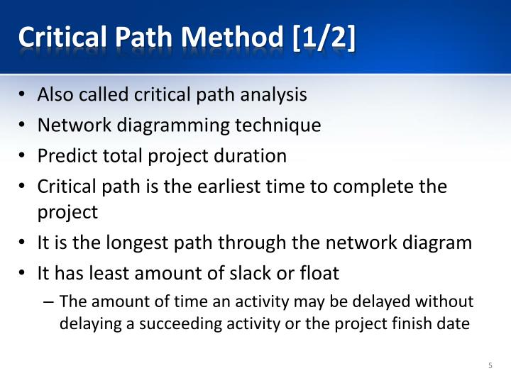 Critical Path Method [1/2]