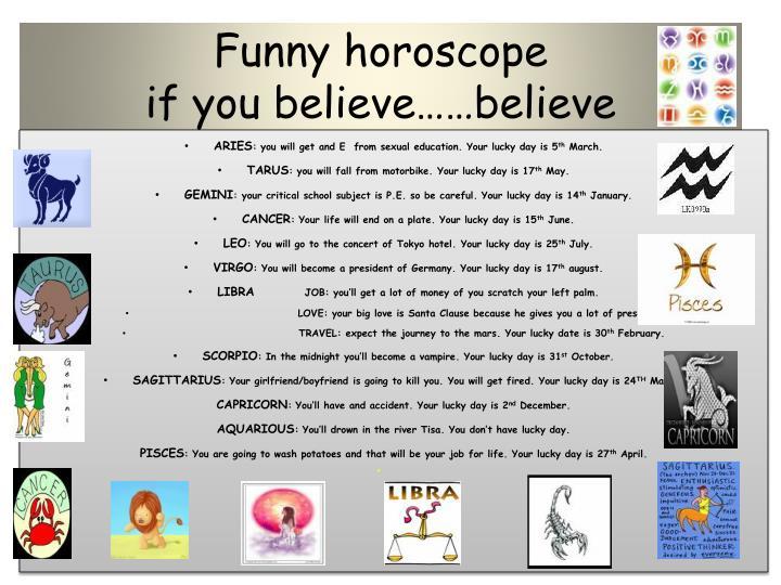 Funny horoscope
