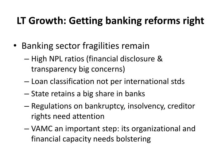 LT Growth: Getting banking reforms right