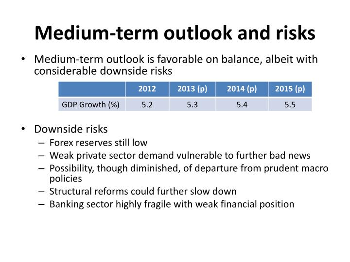 Medium-term outlook and risks