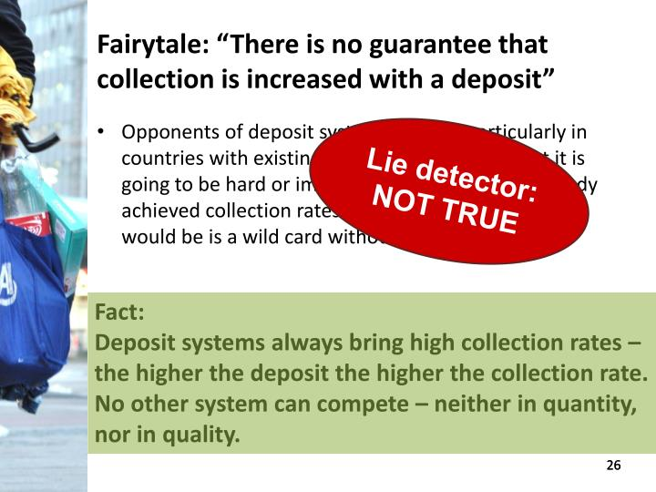 "Fairytale: ""There is no guarantee that collection is increased with a deposit"""