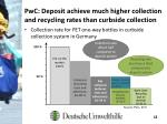 pwc deposit achieve much higher collection and recycling rates than curbside collection1