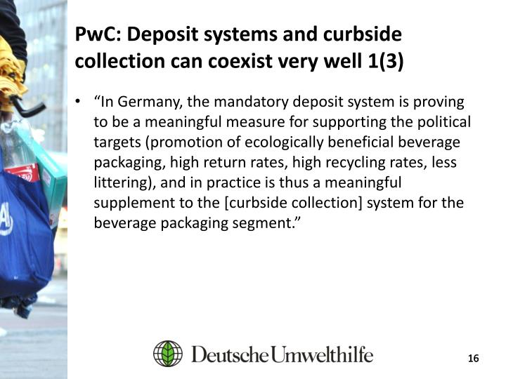 PwC: Deposit systems and curbside collection can coexist very well 1(3)