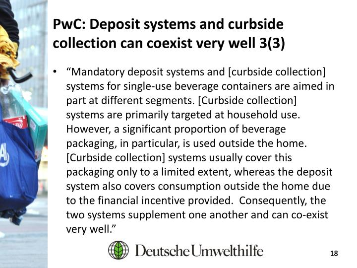 PwC: Deposit systems and curbside collection can coexist very well