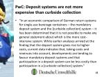 pwc deposit systems are not more expensive than curbside collection