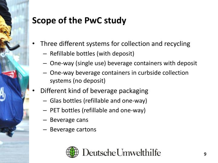 Scope of the PwC study