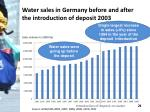 water sales in germany before and after the introduction of deposit 2003