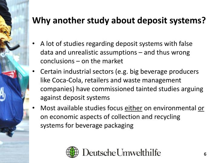 Why another study about deposit systems?