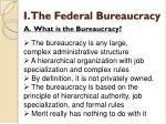 i the federal bureaucracy