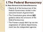 i the federal bureaucracy3