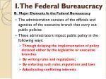 i the federal bureaucracy5
