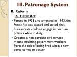 iii patronage system5
