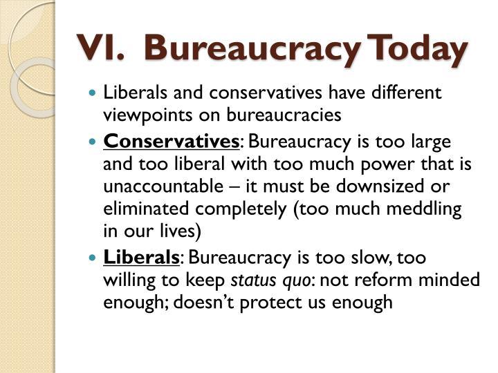 VI.  Bureaucracy Today