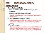 viii bureaucratic theories3