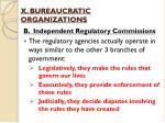 x bureaucratic organizations4