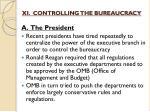 xi controlling the bureaucracy1