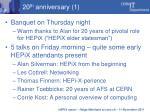 20 th anniversary 1
