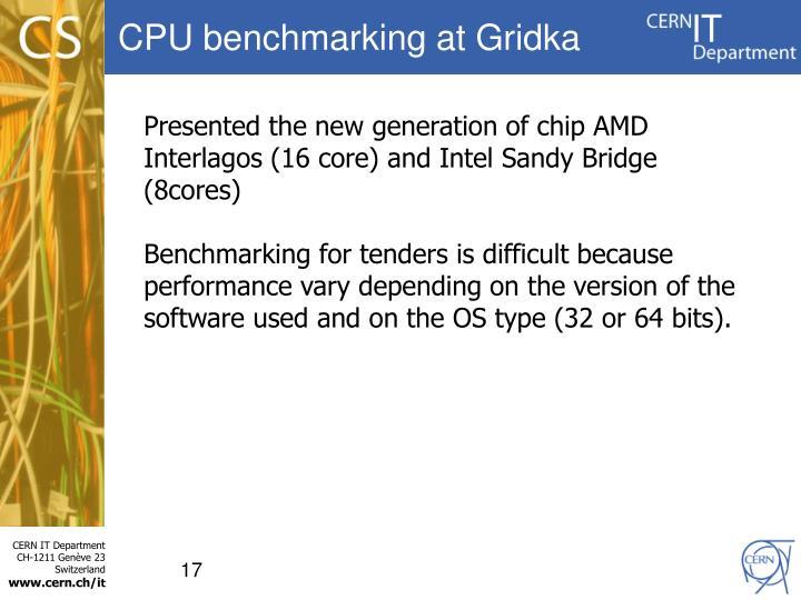 CPU benchmarking at Gridka