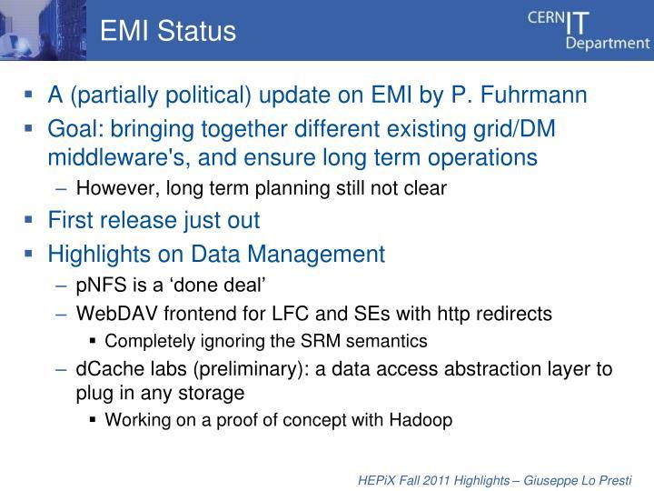 EMI Status
