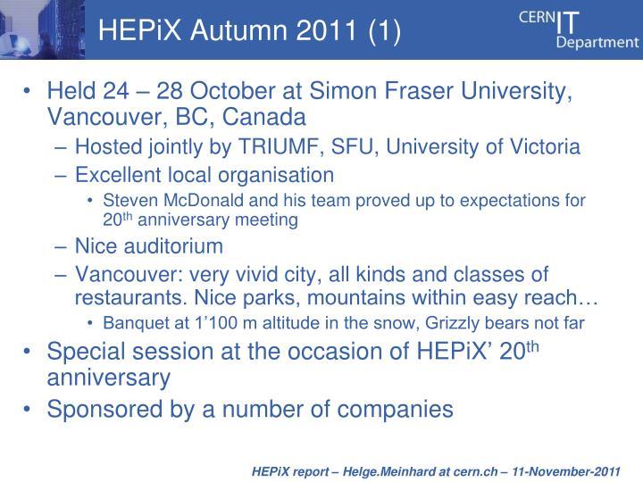 HEPiX Autumn 2011 (1)