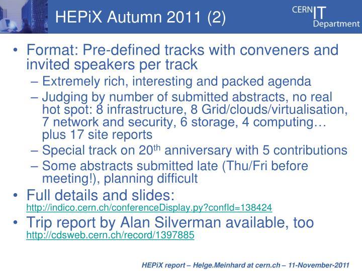 HEPiX Autumn 2011 (2)