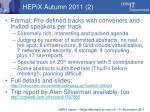 hepix autumn 2011 2