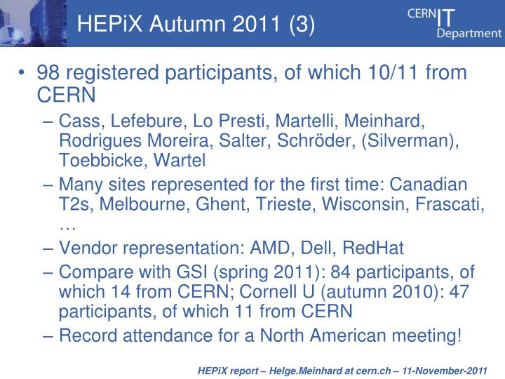 HEPiX Autumn 2011 (3)