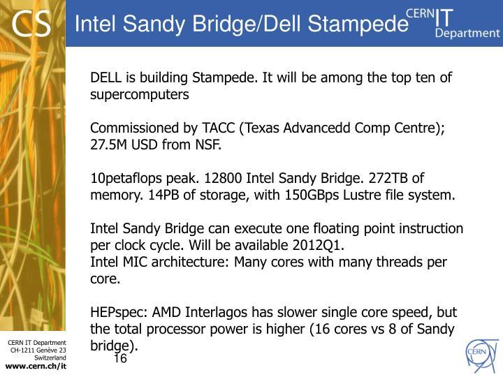 Intel Sandy Bridge/Dell Stampede