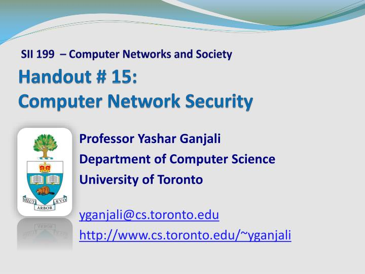 Handout 15 computer network security