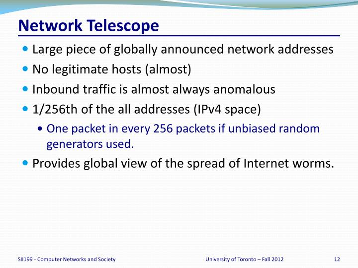 Network Telescope