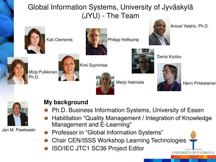 Global Information Systems, University of Jyväskylä (JYU)