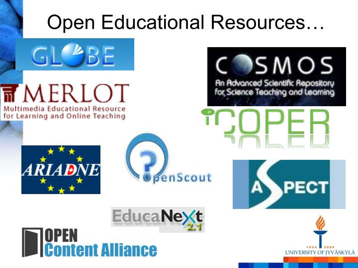 Open Educational Resources…
