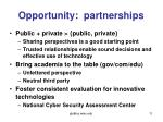 opportunity partnerships