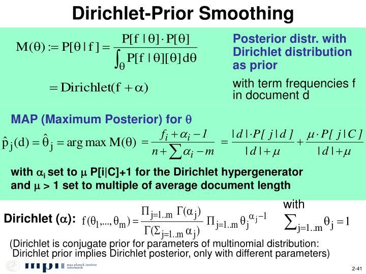 Dirichlet-Prior Smoothing