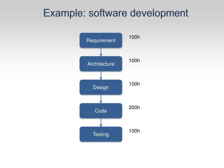 Example: software development