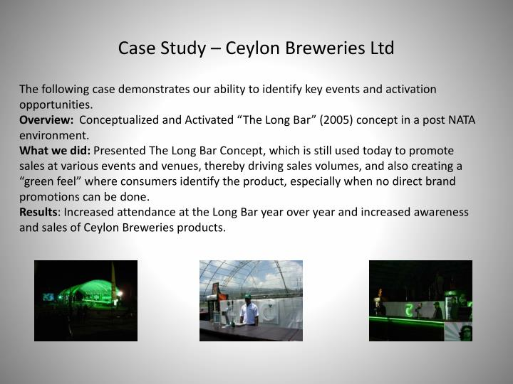 Case Study – Ceylon Breweries Ltd