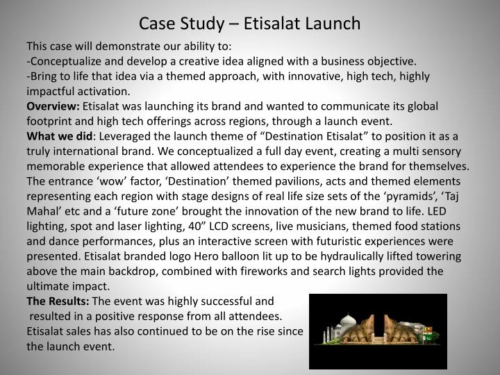Case Study – Etisalat Launch