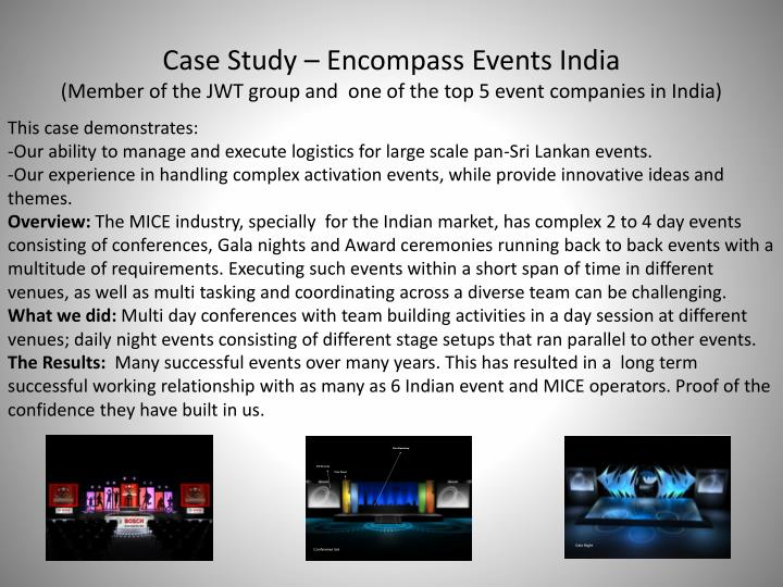 Case Study – Encompass Events India