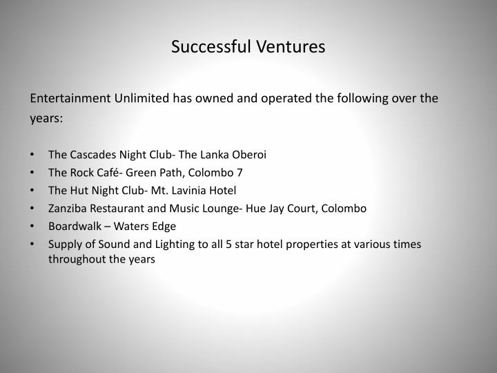 Successful Ventures