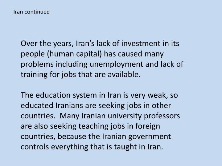 Iran continued