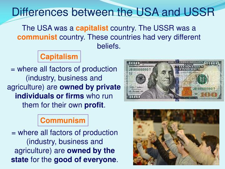 Differences between the USA and USSR