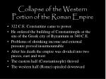 collapse of the western portion of the roman empire3