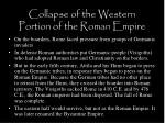 collapse of the western portion of the roman empire4