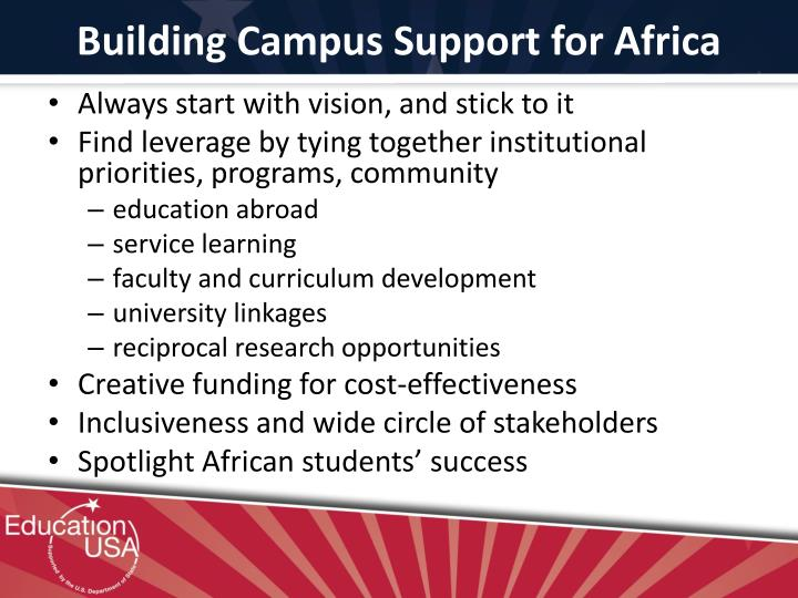 Building Campus Support for Africa