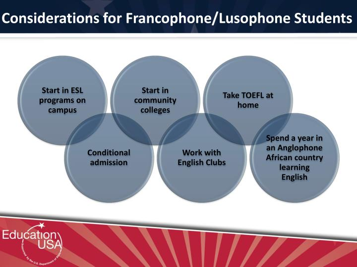 Considerations for Francophone/