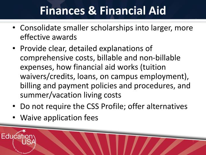 Finances & Financial Aid