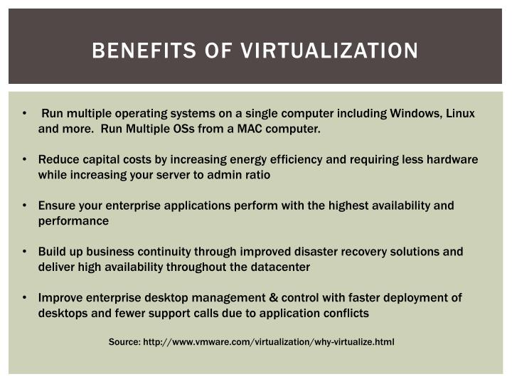 Benefits of Virtualization